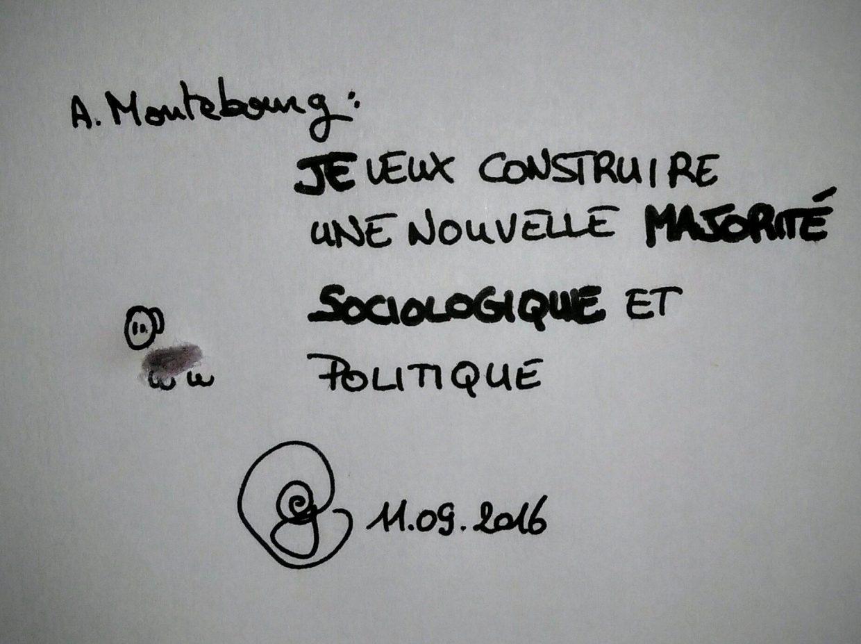 """ego 11.09.2016 : le mouton de poussière de nombril déclare """"Je veux construire une nouvelle majorité politique et sociologique."""""""